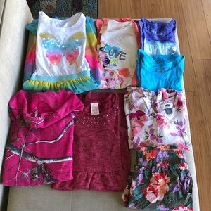(8) girls tops and dresses, size 10/12